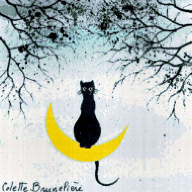 Кот на луне, предпросмотр