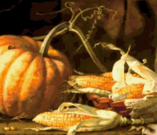 Кукуруза и тыква, предпросмотр