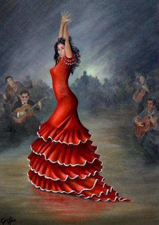 Кармен, танец, девушка