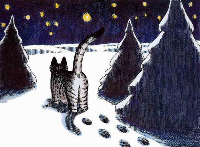 Зимний кот,
