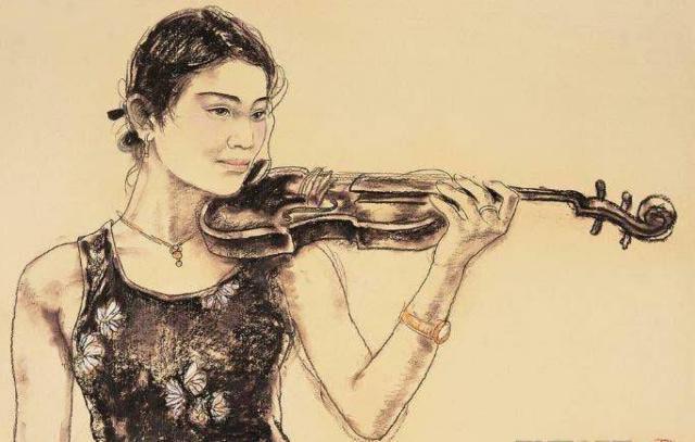Портрет девушки со скрипкой,