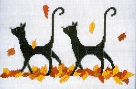 осенние кошки, оригинал
