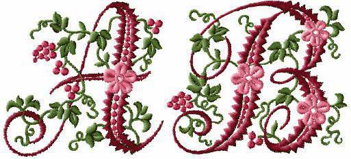Вышивка цветочные буквы