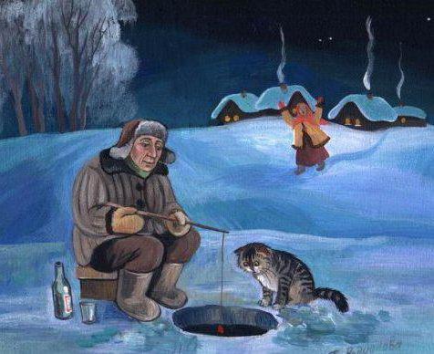 рыбалка, зима, зимняя,