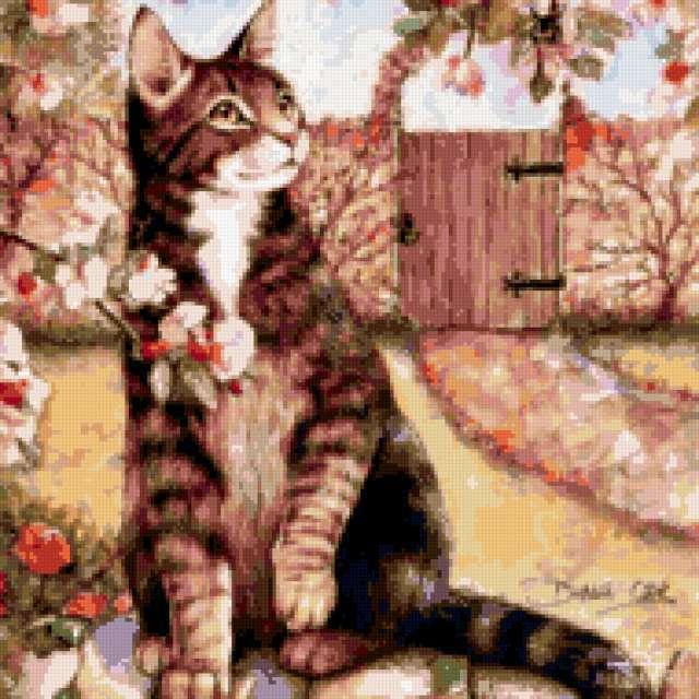 Подушка-дворовой кот