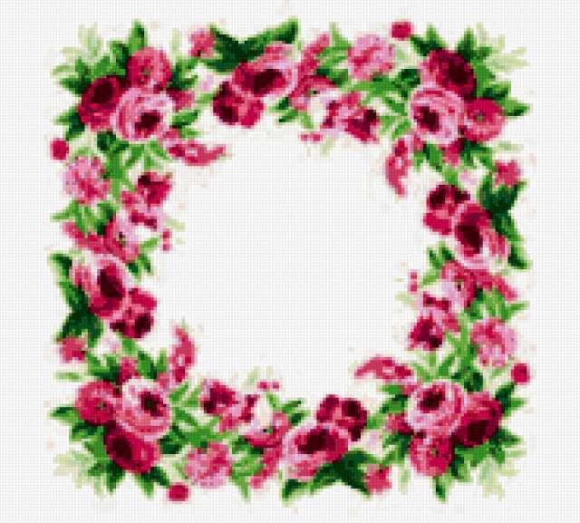 ... , узор, цветочные узоры, розы, розочки: www.xrest.ru/preview/Серединка для скатерти-588345