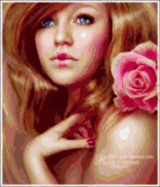 Девушка с розой...