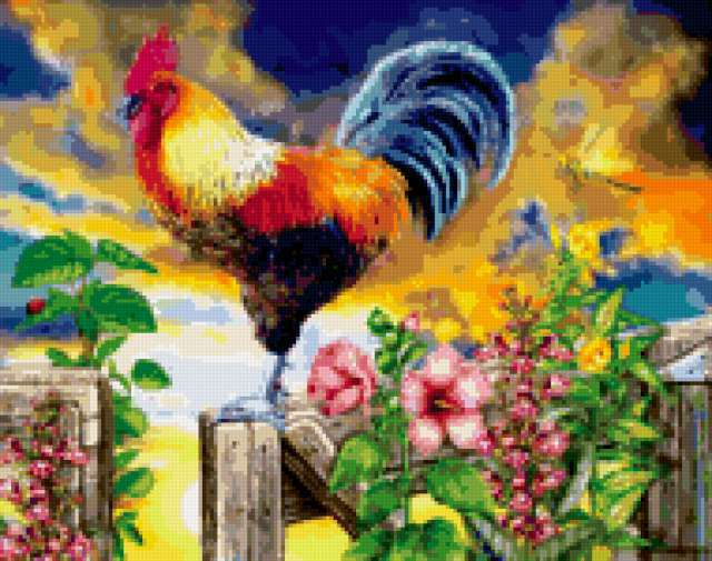 , farm animals, birds