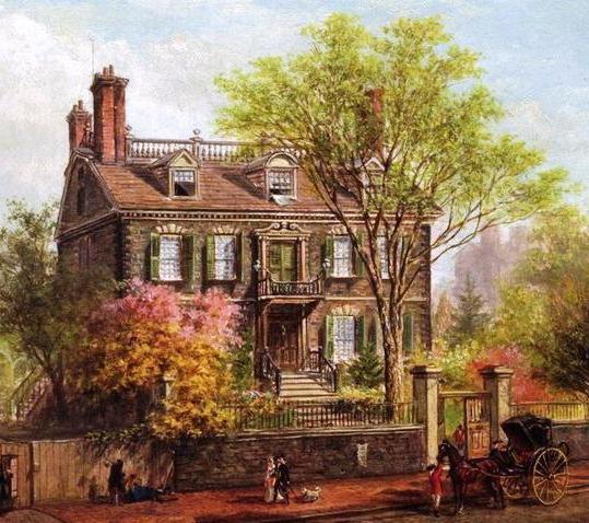 Старинный дом, пейзаж