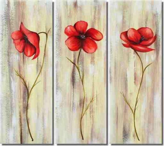 Три мака, цветы