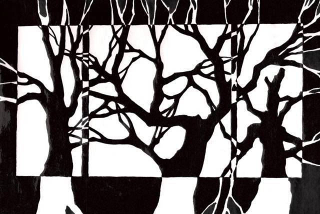 Черно-белые деревья, оригинал