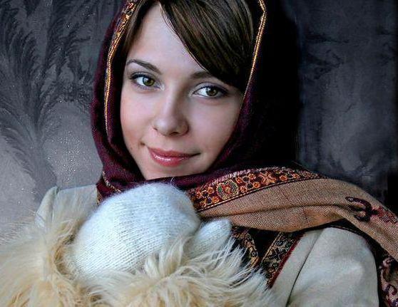 Портрет красавицы в руковичках