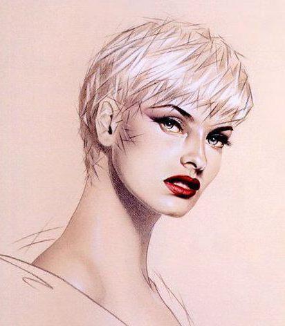 Портрет гламурной девушки