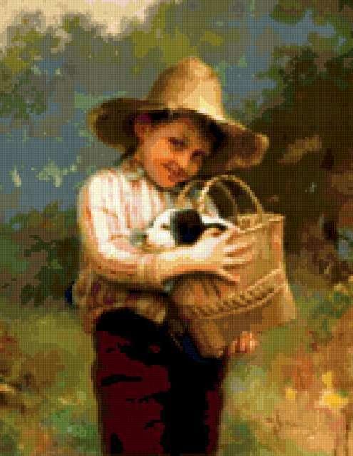 Мальчик с собачкой, дети,
