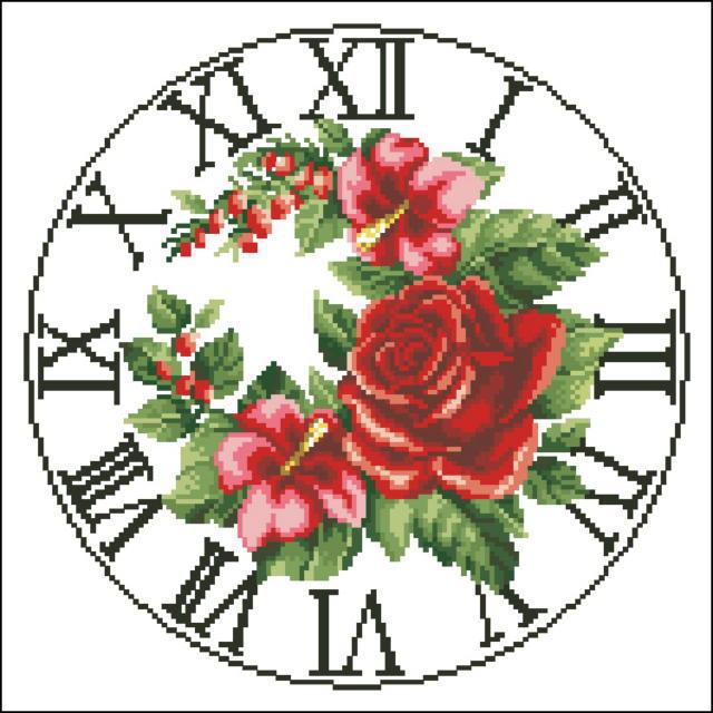 """Часы """"Розы"""", часы, время,"""