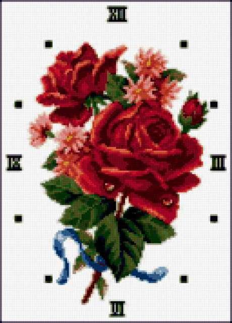 """Часы """"Розы"""", предпросмотр"""
