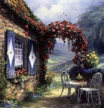 Цветочная калитка, пейзаж
