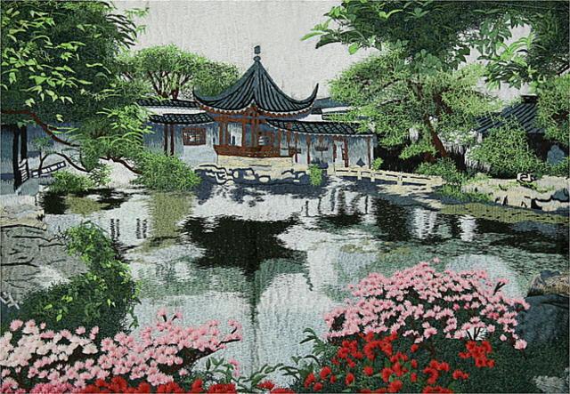 китайский сад, пагода