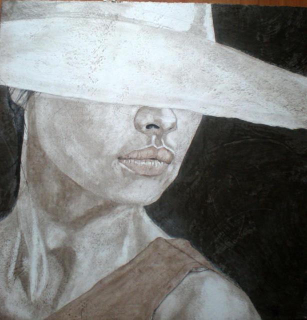 Незнакомка, девушка, картина