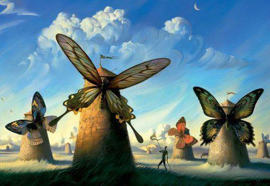 Ветряные бабочки, для