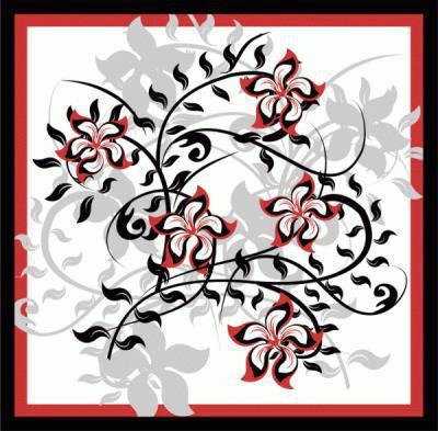 Подушка, растительный орнамент