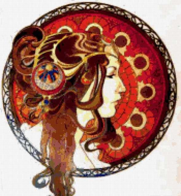 Портрет античной девушки