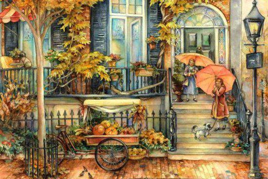 Осенняя улочка, оригинал
