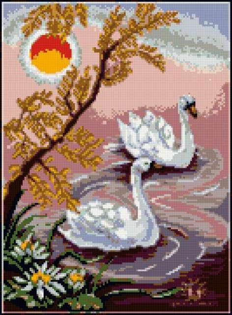 Пара лебедей, предпросмотр