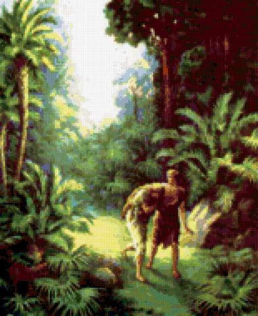 Изгнание Адама и Евы из рая.,