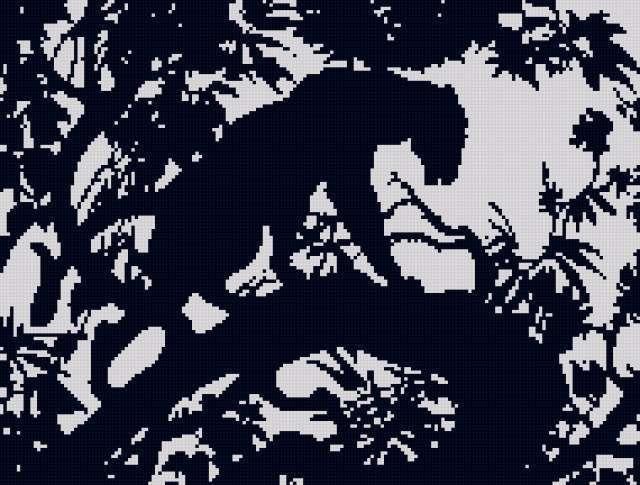Пантера черно-белая