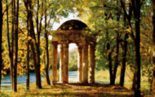 Античная арка, арка, осенний