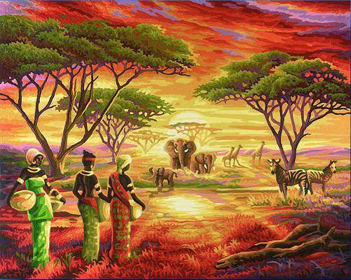 Африканские женщины, оригинал
