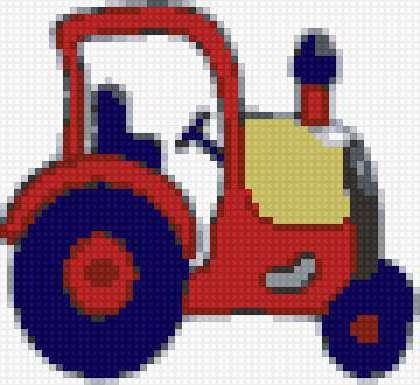 Трактор вышивка крестом