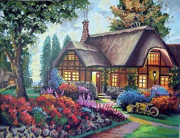 Домик мечты, домики, цветы