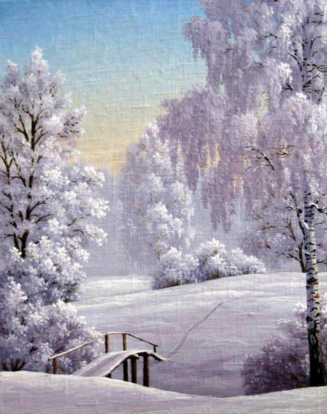 природа, зима, снег,