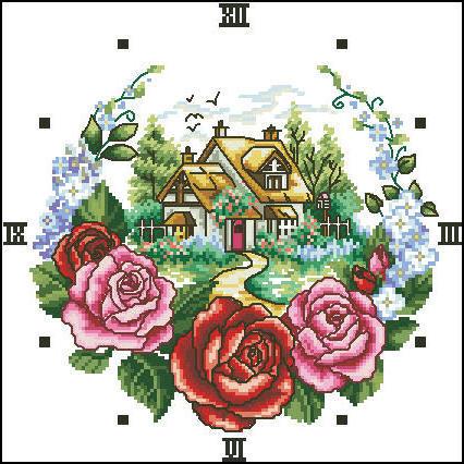 """Часы """"Розы"""", разное, часы,"""
