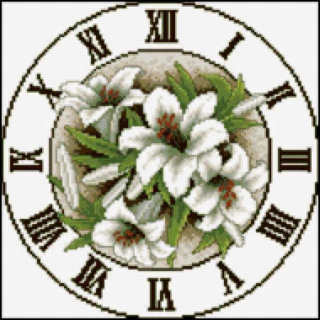 Часы - Схемы вышивки крестом