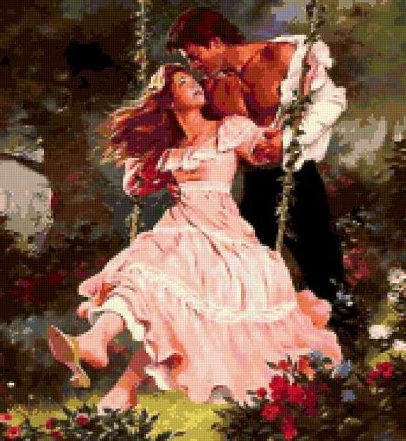 Любовь и страсть на качелях,