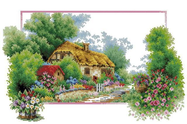 Домик в деревне, природа