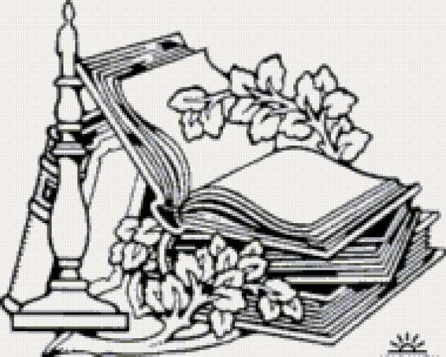 Книги и цветы, предпросмотр