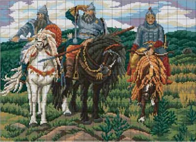 Три богатыря, оригинал