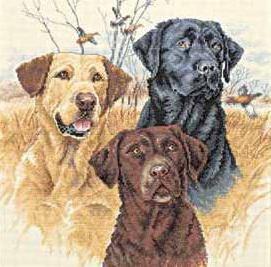 Вышивки охотничьи собаки оригинал