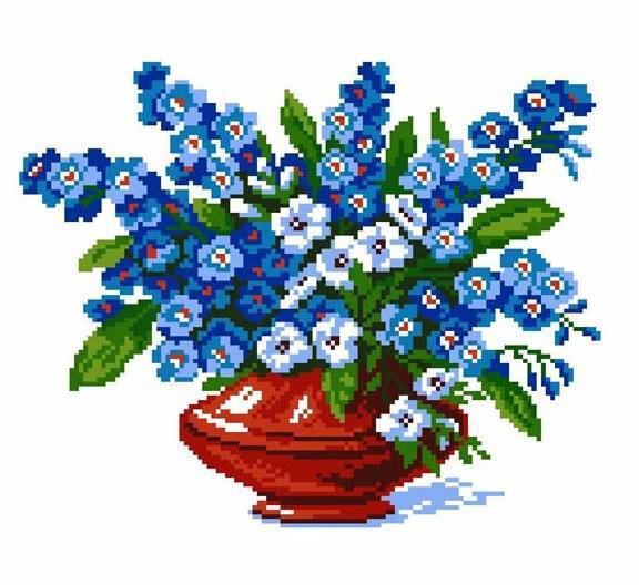 Цветы в вазе, оригинал