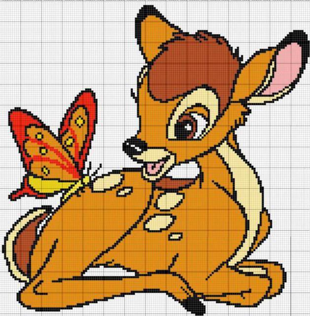 Оленёнок и бабочка, оленёнок,