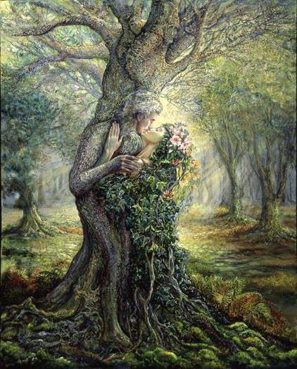 Дриада и дух дерева, девушка,