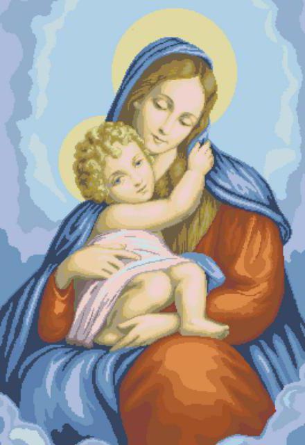 Дева Мария и младенец,