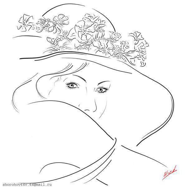 Девушка в шляпе, оригинал