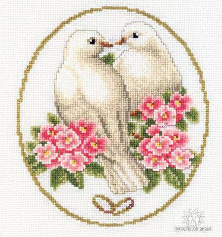 вышивка крестиком свадебная схема