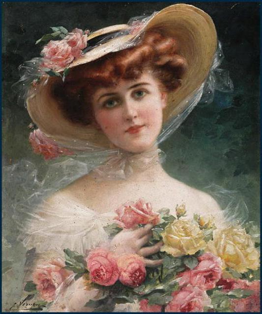 Девушка с розами, девчата