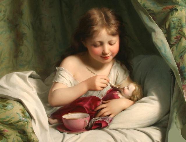 Девочка с куклой, оригинал